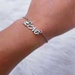 love charm silver chain
